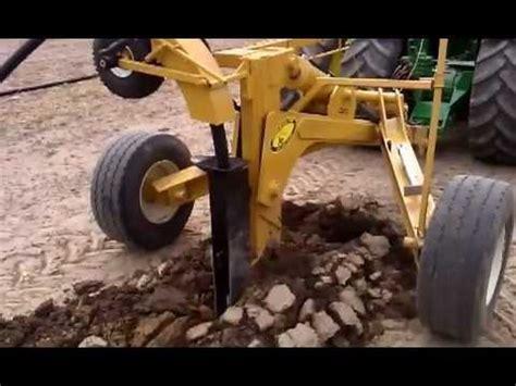 johnson tile plow installing field tile near ruth mi