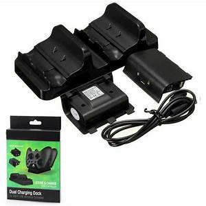 Dual Charging Dock Charger2 X Rechargeable Battery Pack