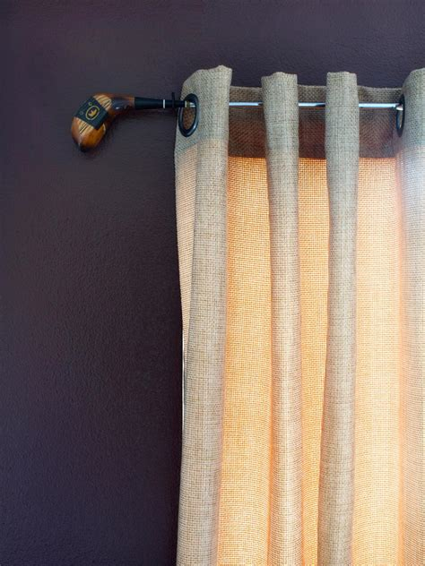 Curtain Hardware 10 creative ways to use household items as curtain