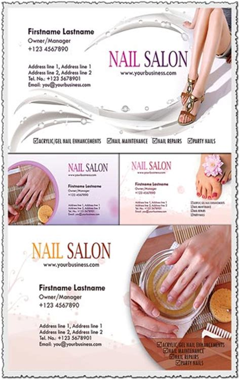 nail salon  spa business cards