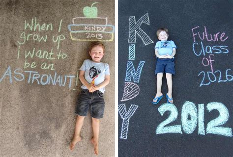 24 adorable preschool graduation ceremony ideas 2019 190   preschool graduation ceremony sidewalk chalk photo