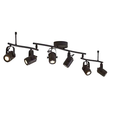 black led track lighting kits shop allen roth tyslow 6 light 45 8 in bronze dimmable