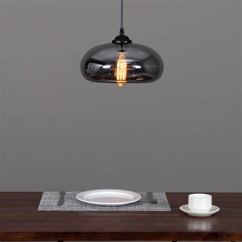 hanglamp design transparant glas swart  cm  ellipse
