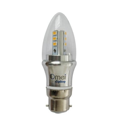 dimmable bayonet cap 60w 6 pack led b22 base candle lights