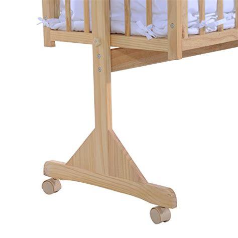 culle in legno a dondolo homcom lettino a dondolo per neonati in legno