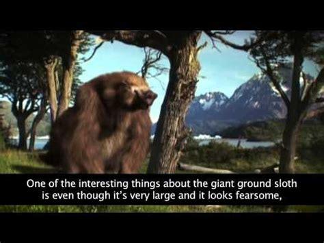 giant ground sloth youtube