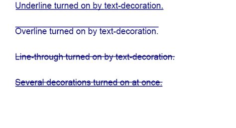 html css text decoration bold decoration  home