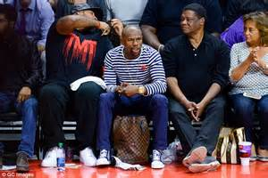 Floyd Mayweather Jnr catches up with YG and LL Cool J at ...
