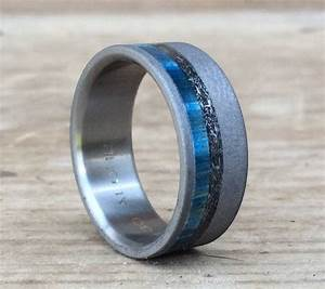15 ideas of men39s wedding bands meteorite With engagement ring with wedding band inside