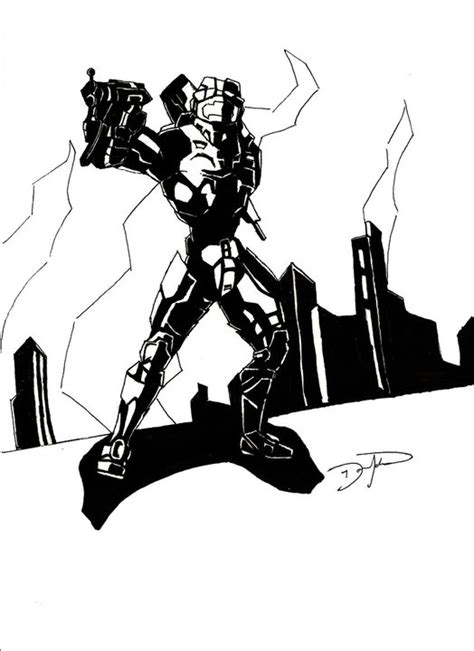 Master Chief Black And White By Dominatingart On Deviantart