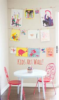 art for kids rooms DIY Kids Art Displays - The Idea Room