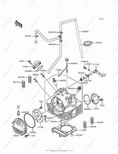 Kawasaki Atv 1995 Oem Parts Diagram For Cylinder Head