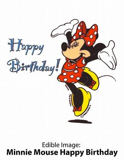 Disney Birthday Happy Clipart Minnie Wishes Mouse