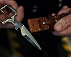 Belt Buckle with Hidden Knife