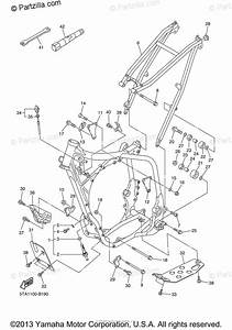 Yamaha Motorcycle 2003 Oem Parts Diagram For Frame