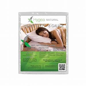 Hygea natural hygea natural bed bug box spring cover or for Bed bug mattress and box spring protector