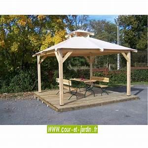 Tonnelle Terrasse : tonnelle jardin bois autoport e pergola bois terrasse ~ Melissatoandfro.com Idées de Décoration