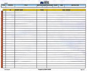class roster template class list template editable 1 page With student roster template