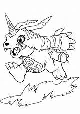 Monster Coloring Bug Digimon Gabumon sketch template