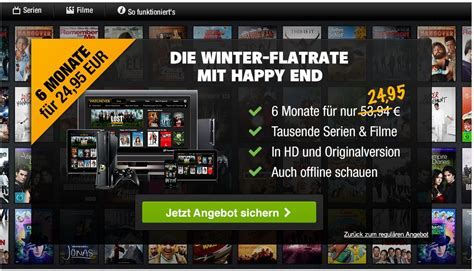 watchever on demand dienst mit sonderangebot