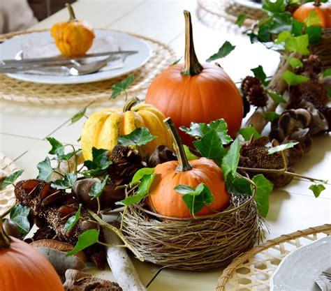 Herbstliche Dekorationen Für Den Tisch by Herbstliche Tischdeko Mit K 252 Rbissen Mein Quot Eclectic