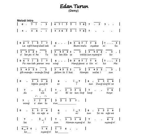 lhia s music notes gambar lirik lagu edan turun not angka lagu kanggo riko pianika piano lengkap dan mudah