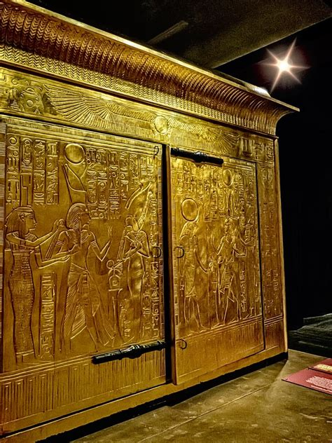king tutankhamuns gold burial shrine  contained   flickr