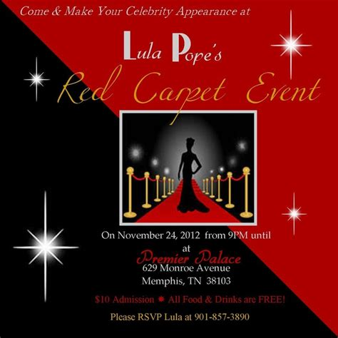 Red Carpet Party Invitations Cimvitation