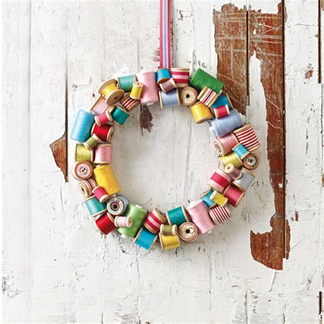 Plastic Wrap Your Christmas Tree by Upcycled Spool Wreath Totally Green Crafts