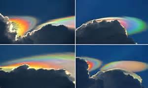 photographer captures rare fire rainbow cloud