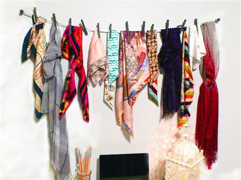 scarf storage solutions   organized closet