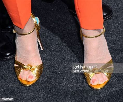 TV personality Barbara Corcoran, shoe detail, attends the ...