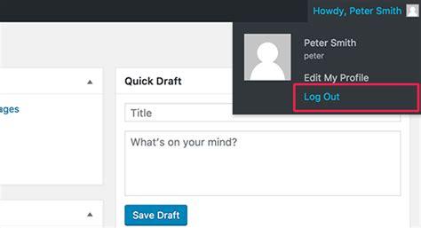 add  wordpress logout link  navigation menu