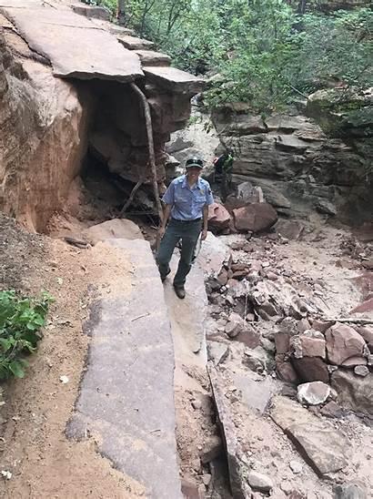 Zion National Park Canyon Damaged Trails Damage
