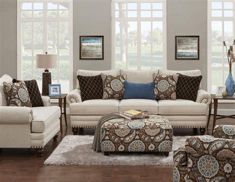 fusion furniture 2820 stationary living room group royal