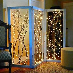 Twinkling, Branches, Room, Divider, U00b7, How, To, Make, A, Room, Divider, U00b7, Decorating, On, Cut, Out, Keep