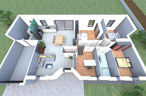 plan de maison 3d plan 3d d un de nos mod 232 les de maison avec 4 chambres un cellier un garage par alliance