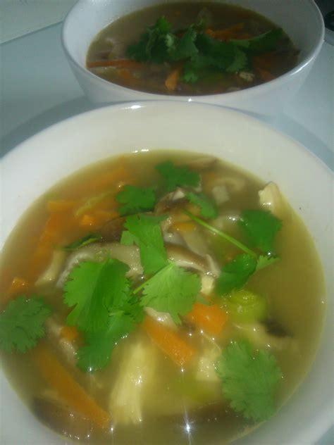 gingembre cuisine soupe de poulet chignons shitake citronnelle