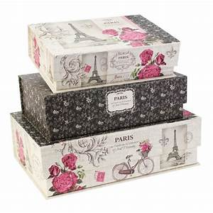 Paris Romance by Tri-Coastal Designs Pretty Storage Boxes