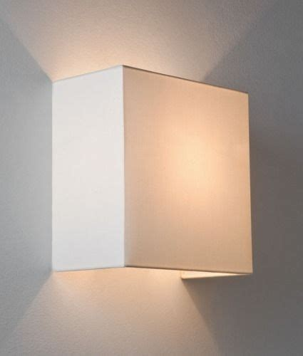 simple fabric wall light square shade up down
