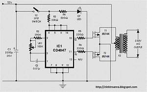 Irf44 Mosfet Based On 100 Watt Inverter Circuit