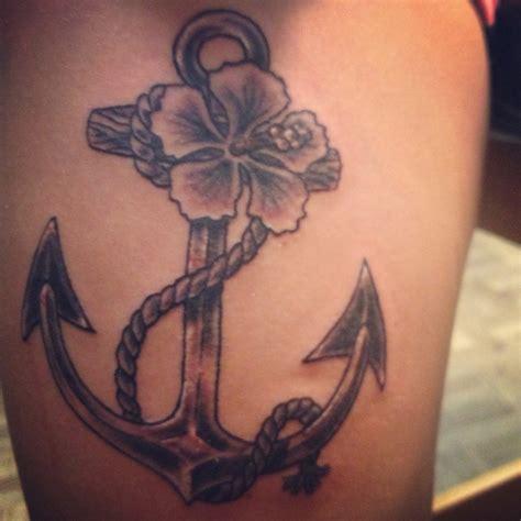 Anchor Tattoo With Fav Flower Tattoos