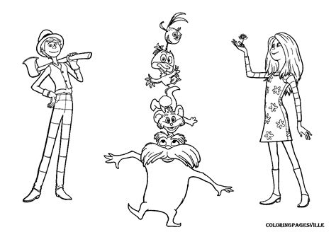 lorax coloring pages    print