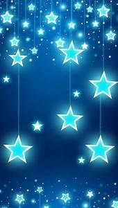Blue Stars Glitter, Sparkle, Glow Phone Wallpaper ...