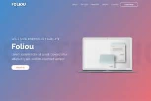 Bootstrap Portfolio Templates Foliou Premium Bootstrap 4 Portfolio Template For
