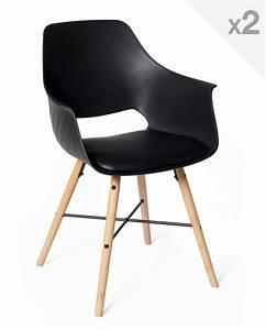 Lot De 2 Chaises Design Scandinave Avec Coussin TAO