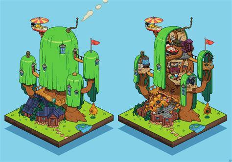 pixelartus adventure time treehouse pixel artist