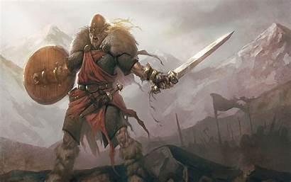 Viking Screaming Sword Warrior Wallpapers Mythology Skofnung