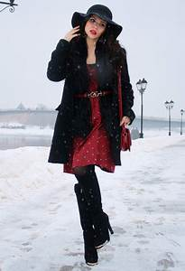 2015 Stylish Winter Outfit Ideas with Dresses | Styles Weekly