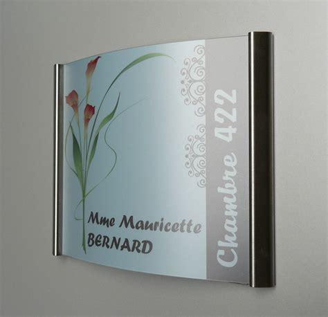 plaque de porte bureau plaque de porte galbée en inox pli sign capitale